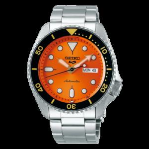 5 Sports Sports Style Stainless Steel / Orange / Bracelet