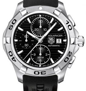 Aquaracer 300M Calibre 16 42 Stainless Steel / Black / Rubber