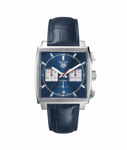 Monaco Calibre Heuer 02 Stainless Steel / Blue