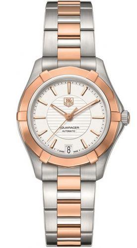 Aquaracer 200M Calibre 5 34 Stainless Steel / Rose Gold / Silver / Bracelet