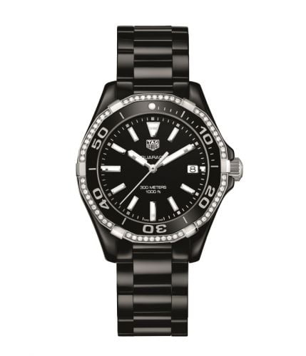 Aquaracer 300M 35 Ceramic / Diamond / Black / Bracelet