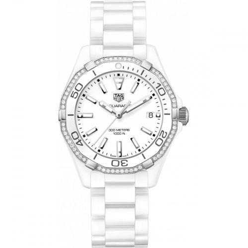 Aquaracer 300M 35 Ceramic / Diamond / White / Bracelet