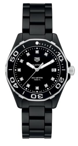 Aquaracer 300M 35 Ceramic / Black - Diamond / Bracelet