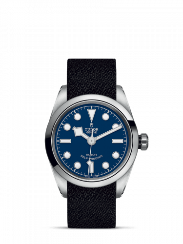 Heritage Black Bay 32 Stainless Steel / Blue / Fabric