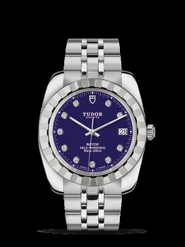 Classic 38 Stainless Steel / Fluted / Blue-Diamond / Bracelet