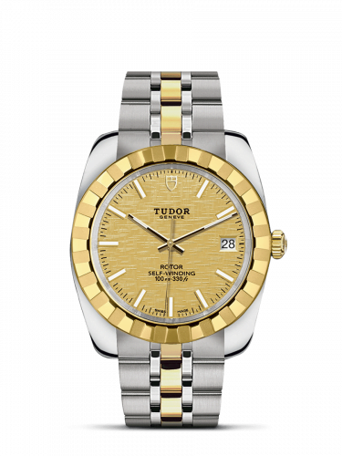 Classic 38 Stainless Steel / Yellow Gold / Fluted / Champagne / Bracelet