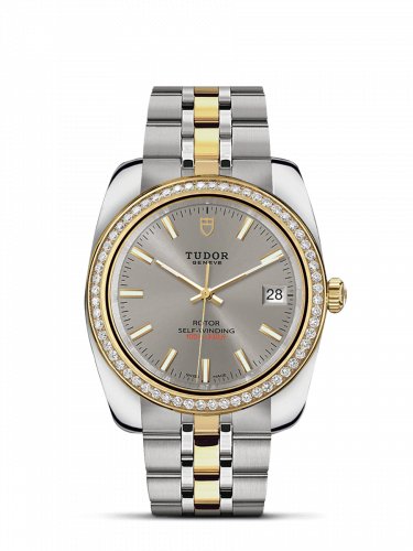 Classic 38 Stainless Steel / Yellow Gold / Diamond / Silver / Bracelet