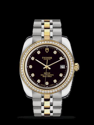 Classic 38 Stainless Steel / Yellow Gold / Diamond / Black-Diamond / Bracelet