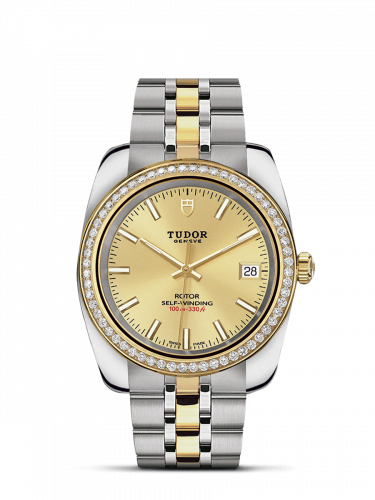 Classic 38 Stainless Steel / Yellow Gold / Diamond / Champagne / Bracelet
