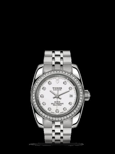 Classic 28 Stainless Steel / Diamond / White-Diamond / Bracelet