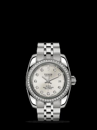 Classic 28 Stainless Steel / Diamond / Silver-Diamond / Bracelet