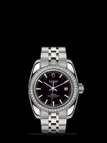 Classic 28 Stainless Steel / Diamond / Black / Bracelet