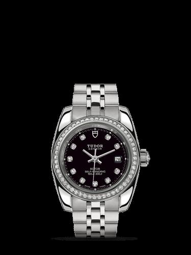 Classic 28 Stainless Steel / Diamond / Black-Diamond / Bracelet