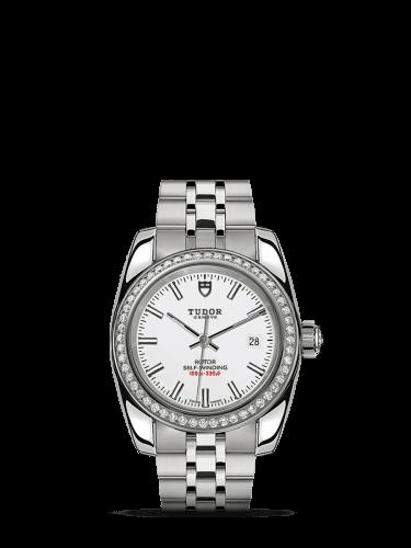 Classic 28 Stainless Steel / Diamond / White / Bracelet
