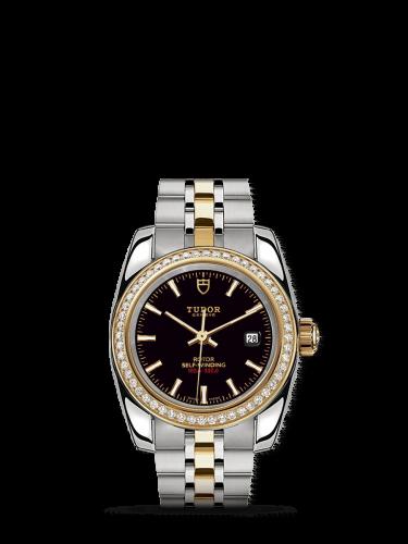 Classic 28 Stainless Steel / Yellow Gold / Diamond / Black / Bracelet