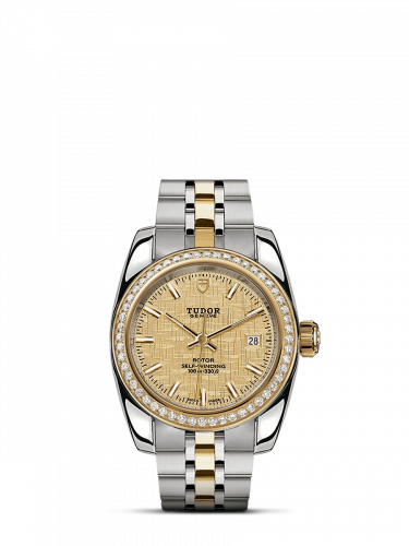 Classic 28 Stainless Steel / Yellow Gold / Diamond / Champagne / Bracelet