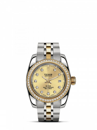 Classic 28 Stainless Steel / Yellow Gold / Diamond / Champagne-Diamond / Bracelet