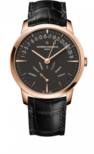 Patrimony Retrograde Day-Date Pink Gold / Anthracite