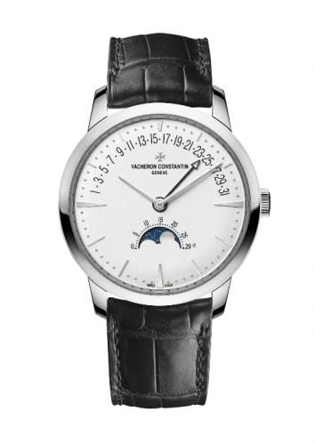 Patrimony Moon Phase and Retrograde Date White Gold / Silver
