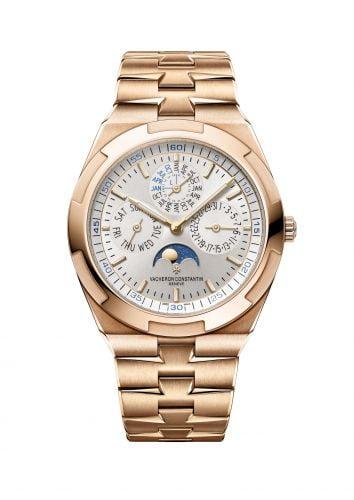 Overseas Ultra-Thin Perpetual Calendar Pink Gold / Silver / Bracelet