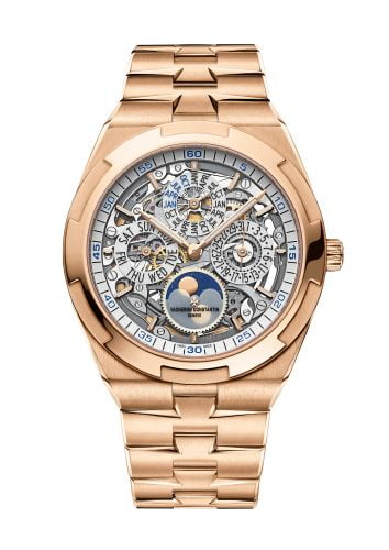 Overseas Ultra-Thin Perpetual Calendar Pink Gold / Skeleton / Bracelet