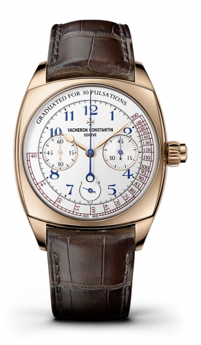 Harmony Chronograph Pink Gold / Blue Numerals