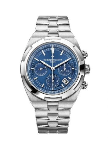 Overseas Chronograph Stainless Steel / Blue