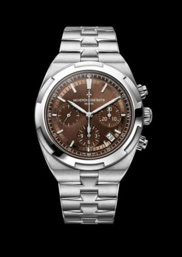 Overseas Chronograph Stainless Steel / Brown