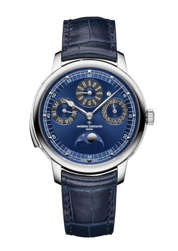 Les Cabinotiers Minute Repeater Perpetual Calendar White Gold / Blue