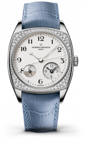 Harmony Dual Time White Gold With Diamonds / Black Numerals