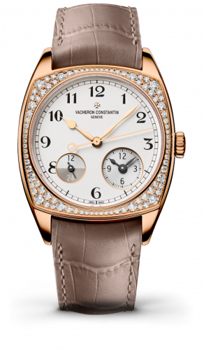 Harmony Dual Time Pink Gold With Diamonds / Black Numerals