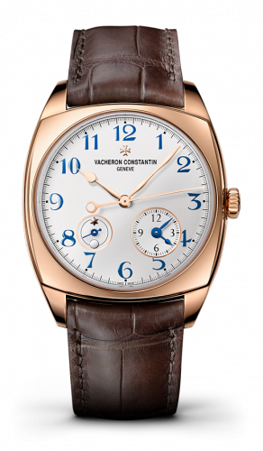 Harmony Dual Time Pink Gold / Blue Numerals