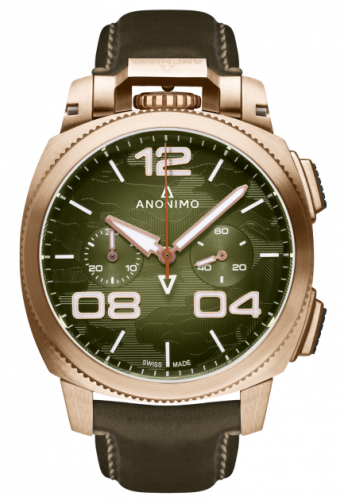 Militare Automatic Bronze / Green Camouflage / Leather