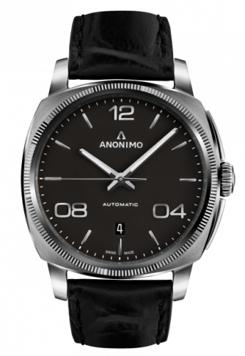 Epurato Automatic Stainless Steel / Anthracite / Leather