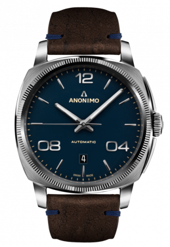 Epurato Automatic Stainless Steel / Blue / Leather