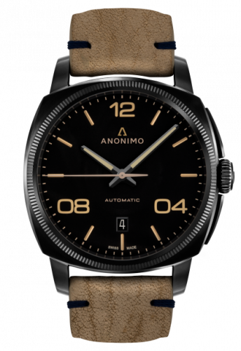 Epurato Automatic Stainless Steel / DLC / Black / Leather