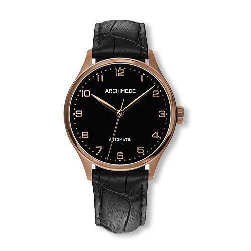 Klassik 36 Gold PVD / Black / Black Leather