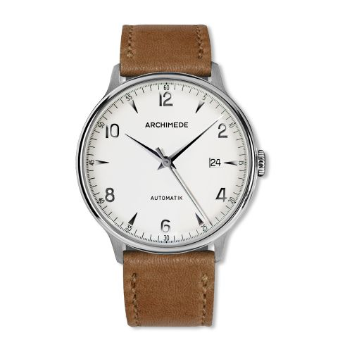 1950-2 Stainless Steel / Silver / Brown Leather