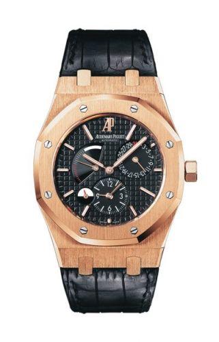 Royal Oak 26120 Dual Time Pink Gold / Black