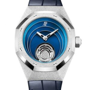 Audemars Piguet Royal Oak Concept Frosted Gold Flying Tourbillon White Gold / Blue