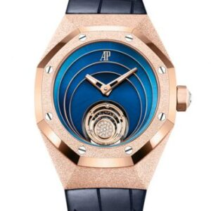 Audemars Piguet Royal Oak Concept Frosted Gold Flying Tourbillon Pink Gold / Blue