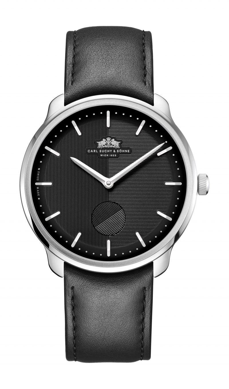 WALTZ N°1  Black Dial, White Case